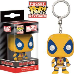 FUNKO POCKET POP : DEADPOOL [YELLOW]พวงกุญแจ FUNKO POCKET POP : DEADPOOL [YELLOW]