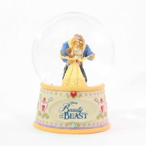 DISNEY TRADITIONS : ENESCO : Beauty & the Beast 120MM Water ballDISNEY TRADITIONS : ENESCO : Beauty & the Beast 120MM Water ball