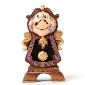 DISNEY TRADITIONS : ENESCO : Cogsworth FigurineDISNEY TRADITIONS : ENESCO : Cogsworth Figurine